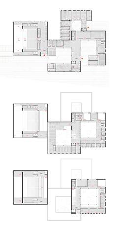 Concept Models Architecture, Architecture Concept Drawings, Urban Architecture, Architecture Portfolio, School Architecture, Auditorium Architecture, Hospital Plans, School Building Design, Hospital Design