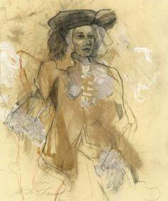 """Saatchi Art Artist Ute Rathmann; Drawing, """"Hommage à Watteau IV"""" #art"""
