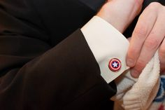 Captain America Cufflinks, Groomsmen Gift