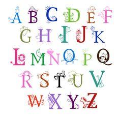 Animal Alphabet Baby Nursery Peel  Stick Wall Art Sticker Decals - Vinyl wall decals alphabet