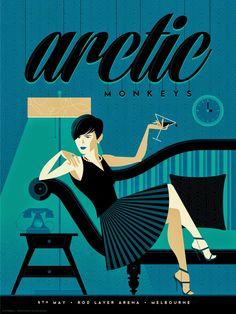 Tom Whalen Arctic Monkeys Poster 2