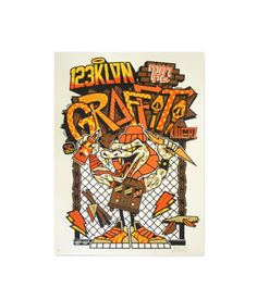 "#lang1: 123KLAN POSTER 1XRUN GRAFFITI KILLER ""This was an original piece that we created exclusively for 1xRUN. We do everything hand made first, all the character design and fonts, and then we jump o"
