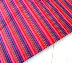 """Striped woven cotton fabric stripes shot cotton DIY Craft Sewing Apparel small stripes Indian cotton fabric, half yard in Pink Purple ₹140.00 Striped woven cotton fabric stripes shot cotton DIY Craft Sewing Apparel small stripes Indian cotton fabric, half yard in Pink Purple combination Width 44 inch (110 cm) Listed for HALF YARD 18""""X44"""". P…"""