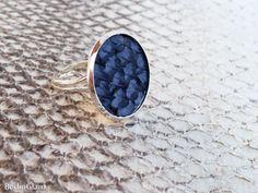 Blauer Lachsleder Ring anpassbarer Fischleder Ring von BerlinGlam