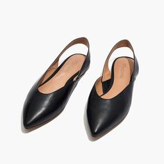 Madewell The Ava Slingback Flat In Leather
