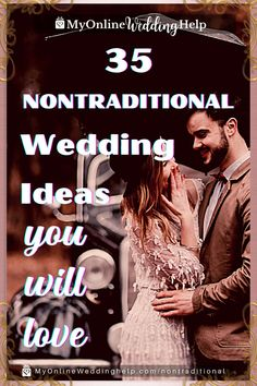 35 Non-Traditional Wedding Ideas. Inspiration for planning the wedding ceremony and wedding outfits. As well as alternative reception ideas, what to do instead of a wedding, unconventional wedding officiants, and anti wedding ideas. Read them all only on the MyOnlineWeddingHelp.com blog. Wedding Ceremony Checklist, Wedding Ceremony Readings, Church Wedding Ceremony, Wedding Planning Checklist, Wedding Tips, Event Planning, Small Wedding Receptions, Reception Ideas, Wedding Events
