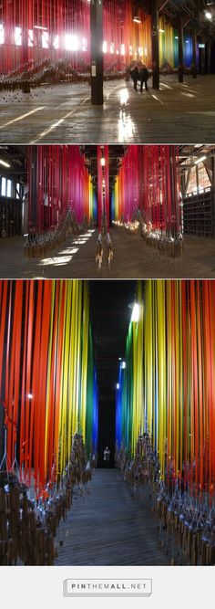 Hundreds of Wind Chimes Hang From a Rainbow of Ribbons - My Modern Met - created via https://pinthemall.net