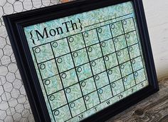 Awesome Calendar idea! I totally hate having to pay tons for calendars. Love it!