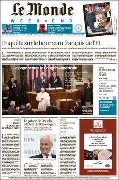 Le Monde  21988  - samedi 26 septembre 2015