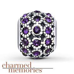 Charmed Memories® Purple Swarovski Charm Sterling Silver
