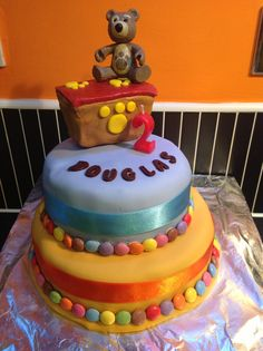 2nd birthday little charley bear cake.