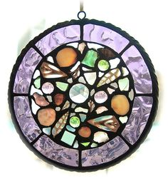 Stained Glass and Sea Shell Suncatchers by HiddenGalleryArt