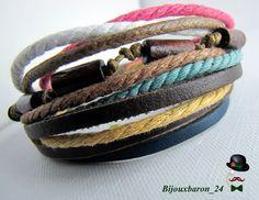 Surferarmband  in naturtönen, Unisex von Bijouxbaron_24 auf DaWanda.com