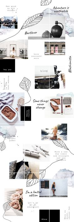 Ideas For Fashion Collage Template Insta Layout, Instagram Feed Layout, Feeds Instagram, Instagram Grid, Instagram Design, Style Instagram, Instagram Posts, Grid Layouts, Fashion Collage