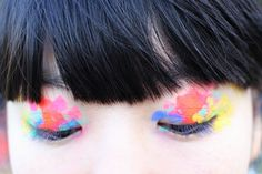 This looks so cool, watercolor rainbow eye makeup Makeup Art, Beauty Makeup, Hair Makeup, Hair Beauty, Makeup Style, Eyeshadow Makeup, Butterfly Eyes, Fantasy Make Up, The Girl Who