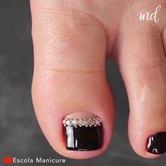 Orange Toe Nails, Fall Toe Nails, Black Toe Nails, Pretty Toe Nails, Maroon Nails, Black Acrylic Nails, Blue Nails, Nail Designs Toenails, Cute Pedicure Designs