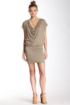 Cowl Neck Drape Dress