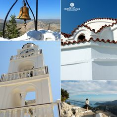 Are you planning to visit #TsampikaMonastery?!  A tiny, #Byzantinechurch, located on the top of a hill with #breathtakingview!  Explore #Rodosisland, enjoy your #vacation!  www.rodos-palace.com