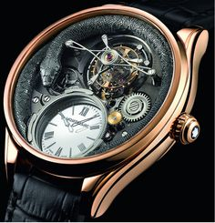 """Montblanc Collection Villeret Tourbillon Bi-Cylindrique 110 Years Anniversary Limited Edition Watch - by Richard Cantley Get a close up of this beauty at: aBlogtoWatch.com """"Here's a welcome surprise with the beautiful commemorative Montblanc Collection Villeret Tourbillon Bi-Cylidrique 110 Years Anniversary Limited Edition. The limited edition tourbillon watch pays tribute to more than a hundred years of artistry and superb craftsmanship with a gorgeous in-house piece that further…"""
