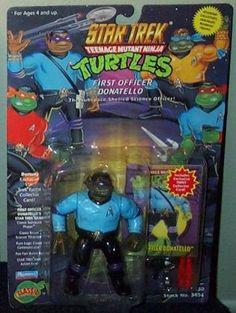 Star Trek Teenage Mutant Ninja Turtles First Officer Donatello Action Figure @ niftywarehouse.com #NiftyWarehouse #StarTrek #Trekkie #Geek #Nerd #Products