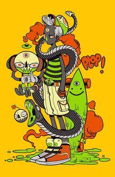 Various Illustrations by SKINPOP Studio