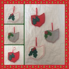 For the Ohio lovers Christmas ornaments by felt