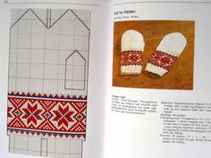 Nordic Thoughts: Mittens from Kautokeino and Anny Haugen Knitting Charts, Knitting Stitches, Knitting Patterns Free, Free Knitting, Crochet Patterns, Knitted Mittens Pattern, Knit Mittens, Mitten Gloves, Knitting Socks