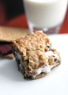 """Share it! Is it just me, or hasthe """"s'more"""" craze been extra hyped this summer? Everywhere I look I see s'mores cookies, ice cream, chex mix, and other inspired treats! Let me tell ya, it has not been good for my pregnancy sweets cravings!  A friend of mine made these S'more Cookie Bars for...Read More »"""