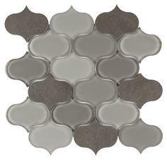 Provenzale Glass Stone Mosaic Tile Gray | Mineral Tiles