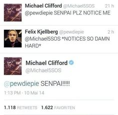 !!!!!! PEWDIEPIE>>>AND FREAKING MICHEAL CLIFFORD!!!!!!!!!!!!!!!!