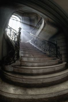 Stairway, Wolf Castle, Wales
