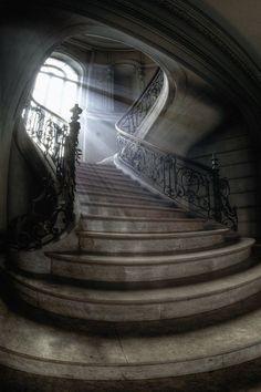 Stairway, Wolf Castle, Wales photo by aurelien