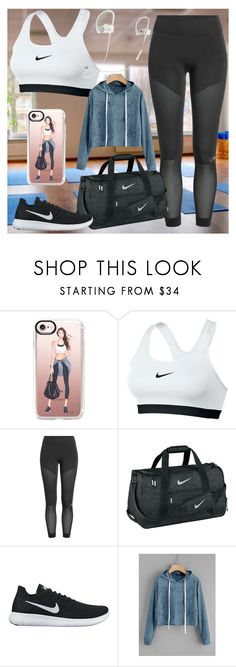 """Gym style (contest)"" by people-are-annoying ❤ liked on Polyvore featuring Casetify, NIKE, adidas and Nike Golf"