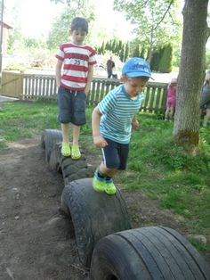 Another great use for old tyres if we had a flat garden.