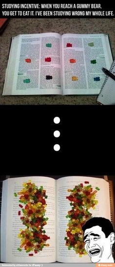 Ok so i actually tried this but wheb i was reading my brain wasnt really processing any of the information because i was too busy thinking about how good the gummy bear was gonna taste or what flavor it was lol