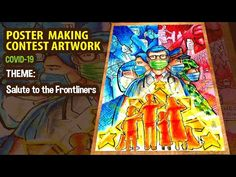 How to Draw Poster Making Contest Artwork Salute for the Frontliners Poster Competition, Drawing Competition, Drawings Of Friends, Art Drawings For Kids, Drawing Ideas, Earth Day Drawing, Elementary Drawing, Research Poster, Warrior Drawing
