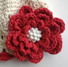 Savannah Rose Crochet Flower: #Free #Crochet #Pattern