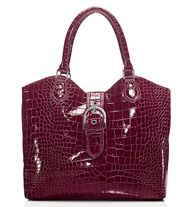 "FOREVER Selected by Paula Abdul Modern Opulence Bag Shiny faux croc with magnetic-snap closure. Fully lined with two slip and one zip pocket. 12"" W x 11"" H x 4"" D; handle drop, 6 1/2"".  Paula Abdul is an award-winning, singer-songwriter, dancer, choreographer and television personality."