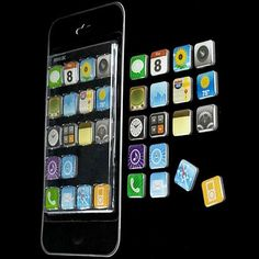 iPhone Magnets by Jailbreak Toys #kitchen trendhunter.com