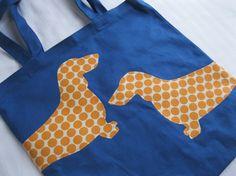 13 X 13 Wraparound Wiener Dogs Canvas Tote Bag by ShopMelissa, $20.00