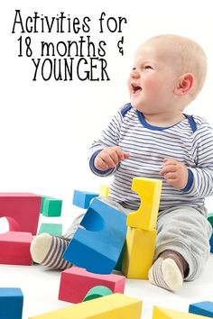 Simple activities for 18-month-olds and younger. Easy to set up and do at home or in a care setting. via @rainydaymum
