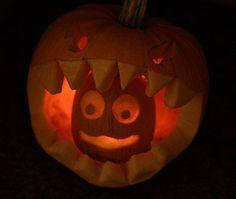 Funny Pumpkin Eating Pumpkin Carving