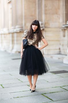Ahh, that tulle!  #BettyAutier in Paris. #LeBlogDeBetty