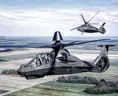 """""""So sad to say goodbye! ______________________________ Two Boeing-Sikorsky AH-66 Comanche, stealth attack helicopter in formation…"""""""
