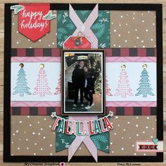 My Creative Scrapbook- December Main Kit Crate Paper- FaLaLa Scrapbook Adhesives by Scrapbook Patterns, Scrapbook Templates, Scrapbook Sketches, Scrapbook Cover, Baby Scrapbook, Scrapbook Cards, Christmas Scrapbook Layouts, Scrapbooking Layouts, Christmas Sketch