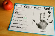 Preschool Graduation Day, plus lots of fun crafts and activities for Preschool/Kinder Pre K Graduation, Kindergarten Graduation, In Kindergarten, Graduation Crafts, Graduation Parties, Graduation Theme, End Of School Year, High School, School Days