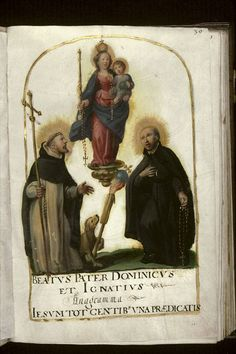 saint Dominique et saint Ignace, Recueil dominicain du couvent Sainte-Catherine