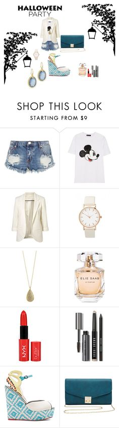 """Halloween Ready"" by rodley-ople-santos on Polyvore featuring One Teaspoon, Markus Lupfer, Karen Kane, Elie Saab, Bobbi Brown Cosmetics, Sophia Webster, M&Co and Armenta"