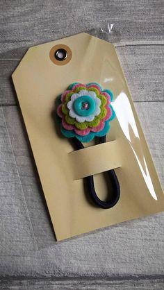 decorative felt flower hair tie /hair band/ hair bobble / hair accessory