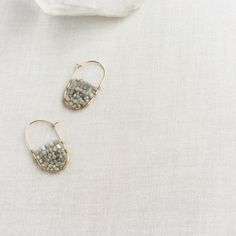 Raw Diamond Hoop Earring - Raw Diamond Earrings - Gold Diamond Hoop Earrings - Diamond Hoops - Raw Diamond Jewelry - Raw Diamond by SforSparkleShop on Etsy https://www.etsy.com/listing/287610517/raw-diamond-hoop-earring-raw-diamond